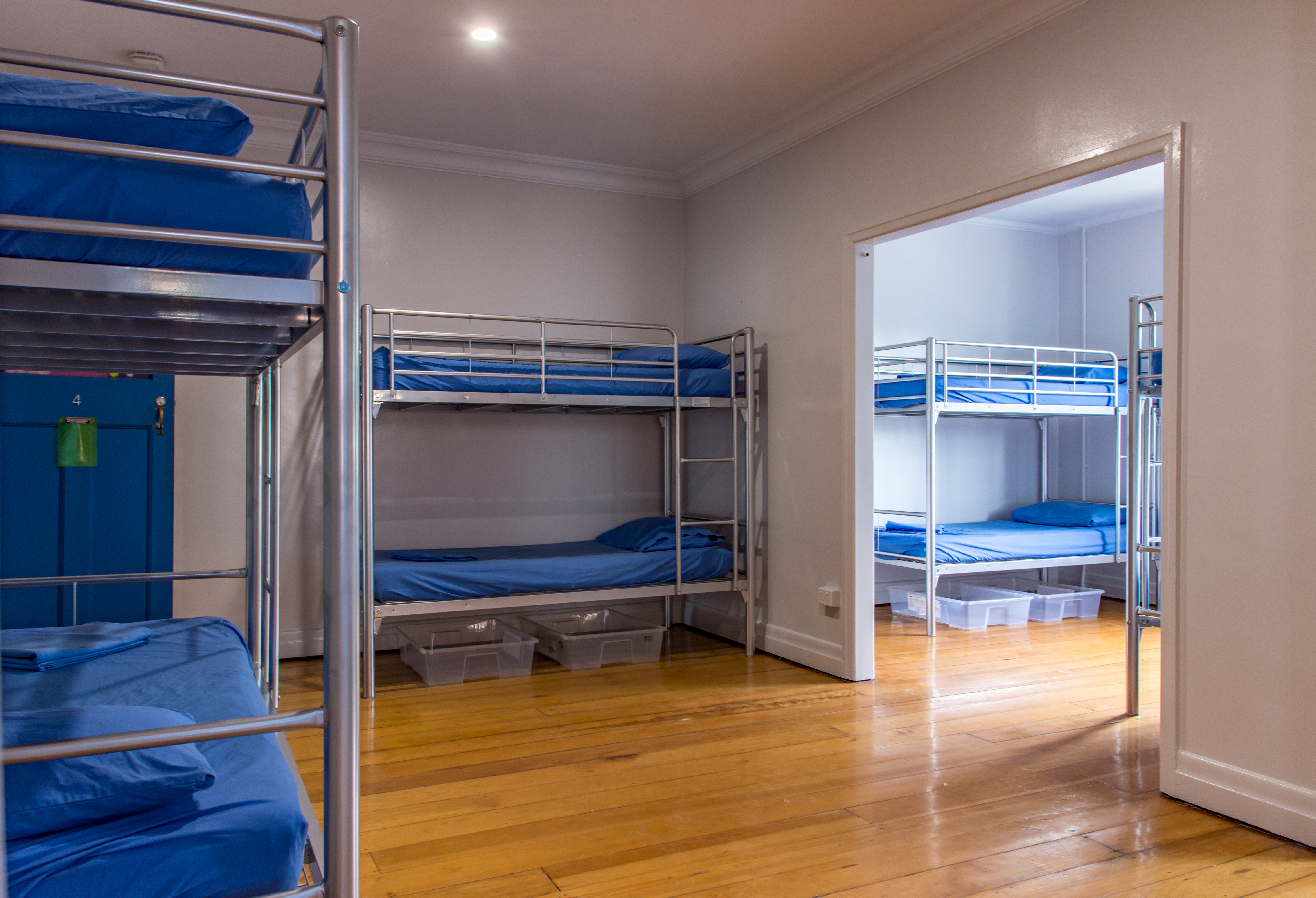 10 8 7 and 6 share bed mixed dorm room with bunk beds. Nightly from $17 per night (based on weekly rate) & 10 8 7 and 6 bed dorm with bunk beds | Joe\u0027s Place Backpackers